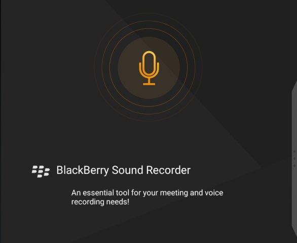 BlackBerry Sound Recorder для смартфонов BlackBerry Android